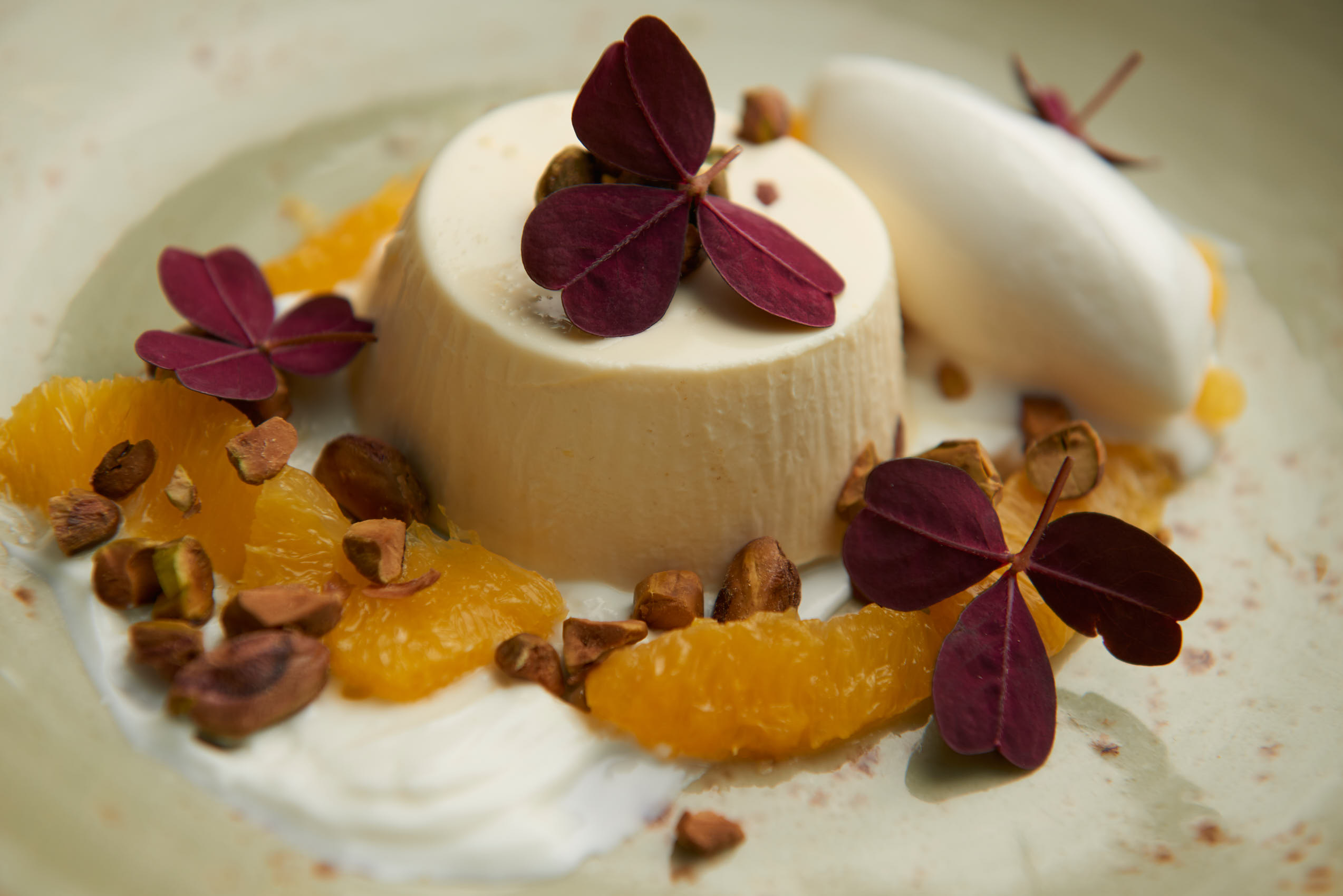 Vanilla pudding with clementine photo by Marcel Tiedje