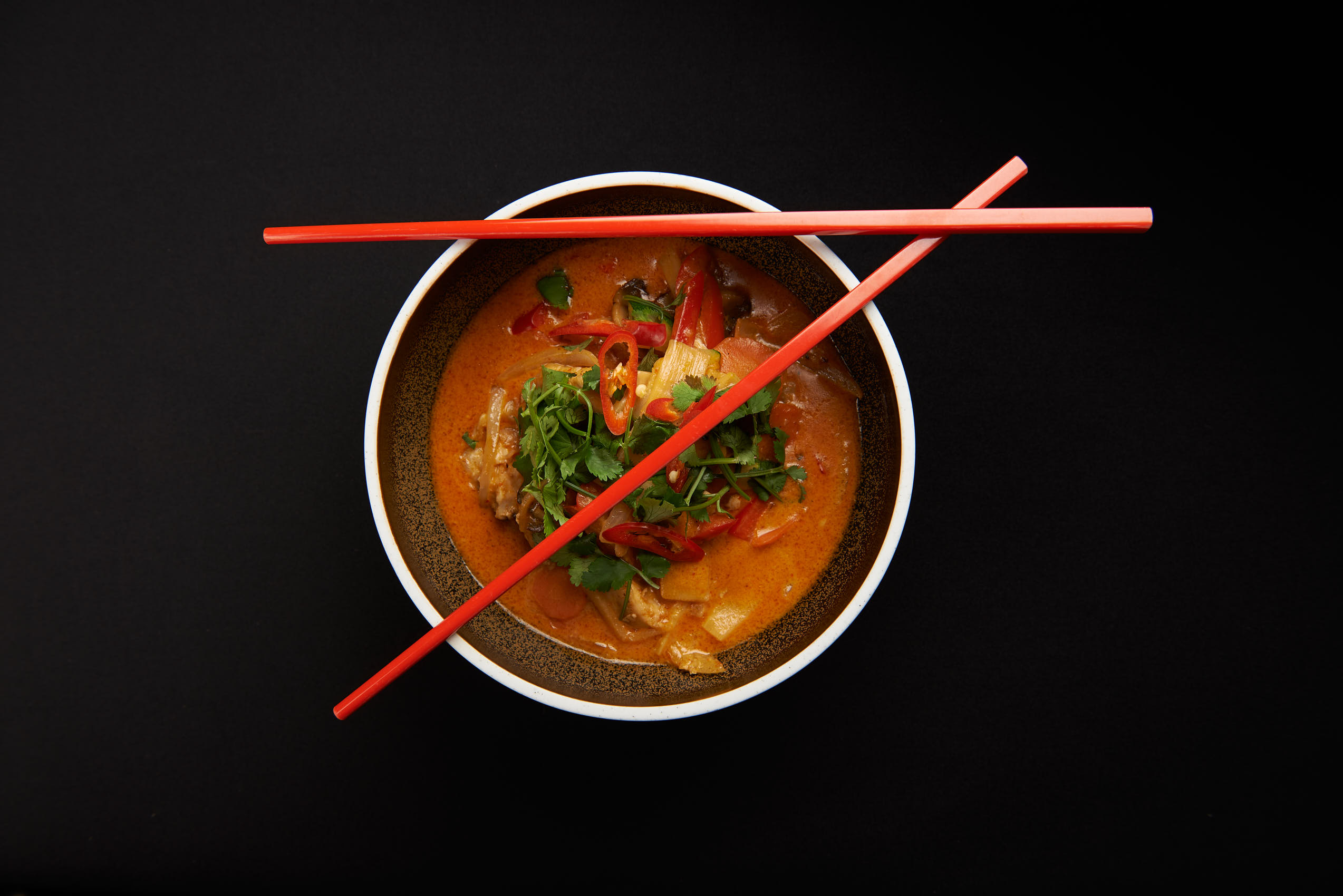 Red curry, thai photo by Marcel Tiedje